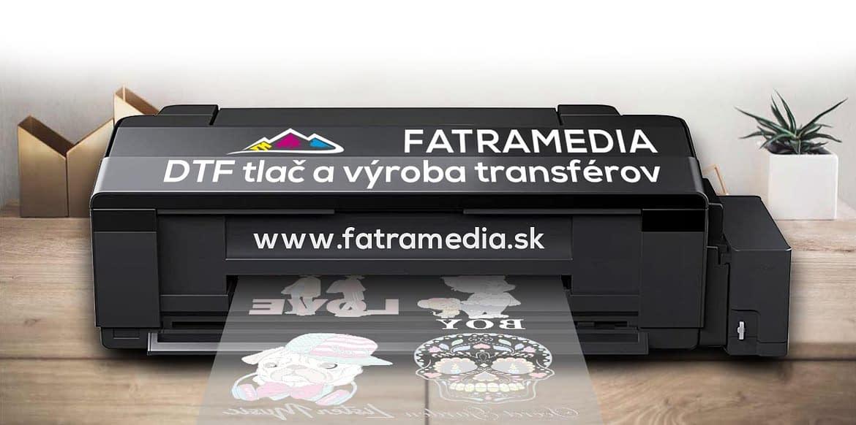 DTF výroba transférov a tlač FatraMedia Ružomberok reklmná agentúra potlač textilu, výroba transférov na potlač