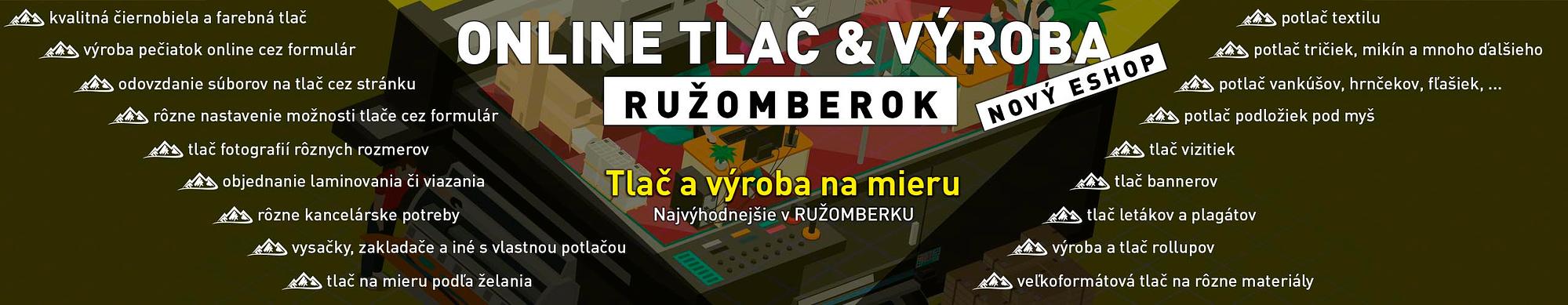 Online tlač dokumentov, tlač reklamných premetov, reklamná tlač, eshop Ružomberok, FatraMedia Ružomberok reklamná agentúra