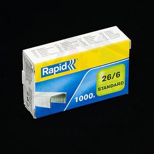 Spinky Rapid stadart 26/6 galvanizované do 30listov 1000ks FatraMedia Ružomberok