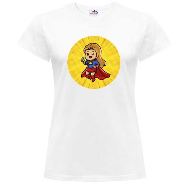 tričko s potlačou super girl FatraMedia Ružomberok