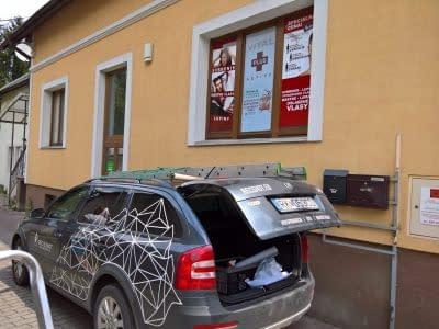 Polep okien, okenné fólie, polep na mieru, reklamný polep, polep auta, potlač auta Ružomberok FatraMedia